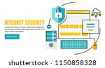 web security  data protection ... | Shutterstock .eps vector #1150858328
