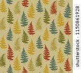 fern frond herbs  tropical... | Shutterstock .eps vector #1150861928