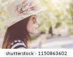 close up shot of stylish young... | Shutterstock . vector #1150863602