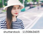 close up shot of stylish young... | Shutterstock . vector #1150863605