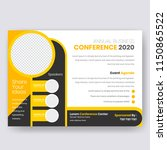 horizontal conference flyer... | Shutterstock .eps vector #1150865522