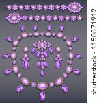 illustration set of jewelry... | Shutterstock .eps vector #1150871912