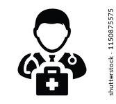 nurse icon vector male person...   Shutterstock .eps vector #1150875575
