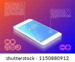 smartphone menu icons vector...   Shutterstock .eps vector #1150880912