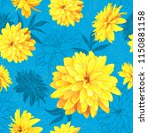 seamless pattern with flowers... | Shutterstock . vector #1150881158