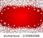 red merry christmas background... | Shutterstock . vector #1150882088