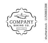 emblem of baking bakery logo... | Shutterstock .eps vector #1150883288