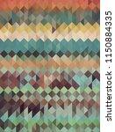 retro style colored geometric... | Shutterstock .eps vector #1150884335