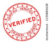 grunge red verified word with... | Shutterstock .eps vector #1150884638