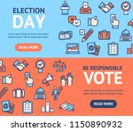 election signs banner... | Shutterstock .eps vector #1150890932