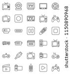 thin line vector icon set  ... | Shutterstock .eps vector #1150890968