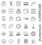 thin line vector icon set  ... | Shutterstock .eps vector #1150892285