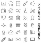 thin line vector icon set  ... | Shutterstock .eps vector #1150892372