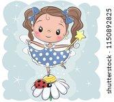 cute cartoon fairy girl on the... | Shutterstock .eps vector #1150892825