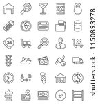 thin line vector icon set  ... | Shutterstock .eps vector #1150893278