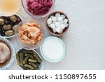 variety of fermented probiotic... | Shutterstock . vector #1150897655