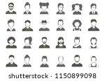 flat avatar icons | Shutterstock .eps vector #1150899098