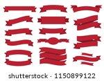 nice vintage ribbon elements... | Shutterstock .eps vector #1150899122