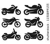 motorcycle   bike icons | Shutterstock .eps vector #1150899155