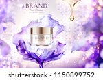 luxury face cream jar ads with... | Shutterstock .eps vector #1150899752
