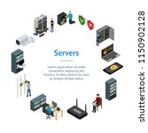 server hardware banner card... | Shutterstock .eps vector #1150902128