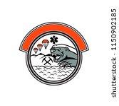badge mascot illustration of... | Shutterstock .eps vector #1150902185