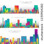 modern city life abstract... | Shutterstock .eps vector #1150904282