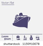 steamboat floating on the sea ...   Shutterstock .eps vector #1150910078