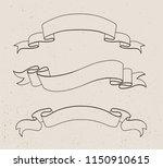 ribbon banner set.vector... | Shutterstock .eps vector #1150910615
