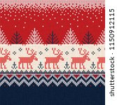 ugly sweater merry christmas... | Shutterstock .eps vector #1150912115