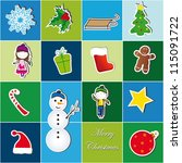 colorful christmas background... | Shutterstock . vector #115091722