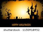 halloween night background with ...   Shutterstock .eps vector #1150918952