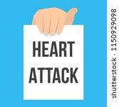 man showing paper heart attack... | Shutterstock .eps vector #1150929098