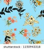 watercolor seamless pattern... | Shutterstock . vector #1150943318