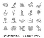 italy icon set. included icons... | Shutterstock .eps vector #1150944992