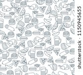 seamless pattern with different ... | Shutterstock .eps vector #1150945655