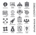 business management icons. pack ... | Shutterstock . vector #1150945802