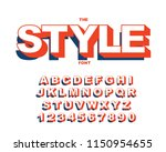 vector of modern bold font and... | Shutterstock .eps vector #1150954655