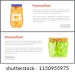preserved food in jars web... | Shutterstock .eps vector #1150955975