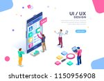ui design concept with... | Shutterstock .eps vector #1150956908