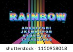 rainbow vector of stylized... | Shutterstock .eps vector #1150958018