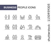 business people icons set...   Shutterstock .eps vector #1150959305