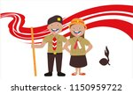 acouple of students  scout... | Shutterstock .eps vector #1150959722