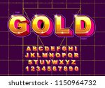 vector of stylized vintage font ... | Shutterstock .eps vector #1150964732