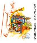 easy to edit vector... | Shutterstock .eps vector #1150969925
