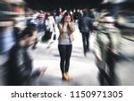 panic attack in public place.... | Shutterstock . vector #1150971305