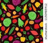 vegetable seamless pattern...   Shutterstock .eps vector #1150985912