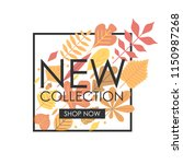autumn new collection banner.... | Shutterstock .eps vector #1150987268