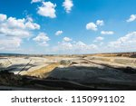 panoramic view of quarry on a... | Shutterstock . vector #1150991102