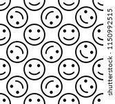 happy icon seamless pattern ... | Shutterstock .eps vector #1150992515